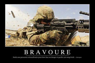 Bravoure: Citation Et Affiche D'Inspiration Et Motivation