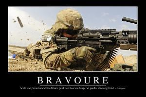 Bravoure: Citation Et Affiche D'Inspiration Et Motivation