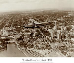 Brazilian Clipper over Miami, 1934