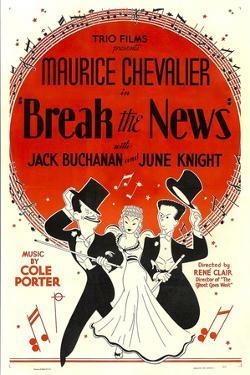 Break The News, Maurice Chevalier, June Knight, Jack Buchanan, 1938