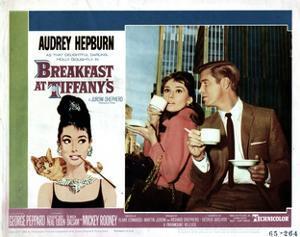 Breakfast at Tiffany's, L-R, Audrey Hepburn, George Peppard, 1961