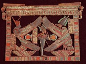 Breast Plate of Osiris, God of the Afterworld, from the Tomb of Tutankhamun, in the Valley of The
