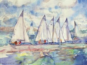 Blue Sailboats, 1989 by Brenda Brin Booker
