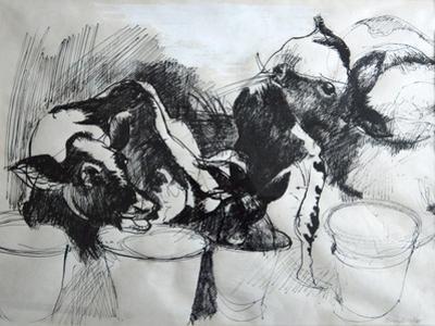 Calves; day-old by Brenda Brin Booker