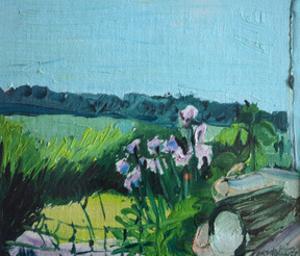Irises in the Garden by Brenda Brin Booker