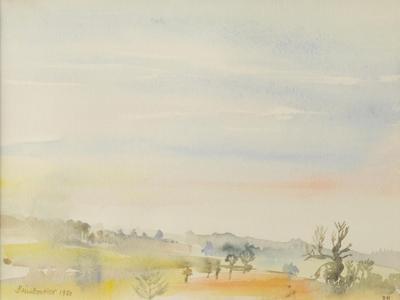 Landscape, Great Bradley, 1980 by Brenda Brin Booker