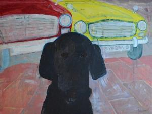 Rex at the Used Car Lot - AYF8440 by Brenda Brin Booker