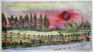 Sunset, Hedgerley Green by Brenda Brin Booker