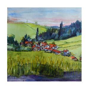 Village in the Auvergne by Brenda Brin Booker