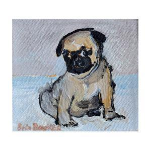 Vincent, the pug puppy by Brenda Brin Booker