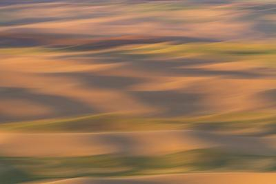 Abstract agricultural fields, Washington. by Brenda Tharp