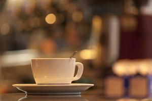 Italy, Venice. a Cappuccino on the Country of a Cafe by Brenda Tharp