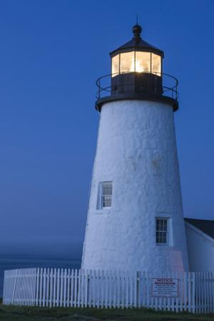 Maine, Pemaquid. Lighthouse offers protection to ships at sea along the coast. by Brenda Tharp