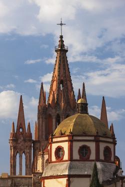 Mexico, San Miguel De Allende. Cathedral of San Miguel Archangel by Brenda Tharp