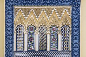 Morocco, Fes. a Detail of an Ornate Wall of the King's Palace by Brenda Tharp