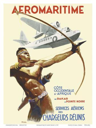 Aeromaritime - West Coast of Africa, from Dakar, Senegal to Pointe Noire, Congo by Brenet