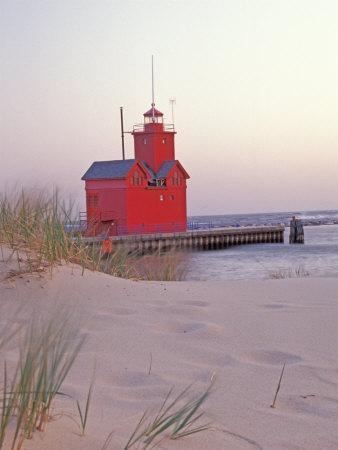 Big Red Holland Lighthouse, Holland, Ottowa County, Michigan, USA
