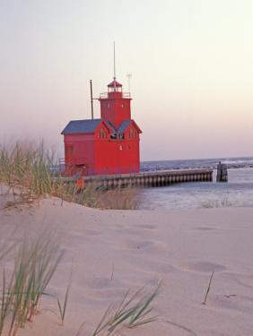 Big Red Holland Lighthouse, Holland, Ottowa County, Michigan, USA by Brent Bergherm
