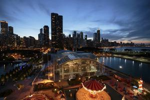 Chicago, Illinois, USA. View from the Ferris Wheel on Navy Pier. by Brent Bergherm