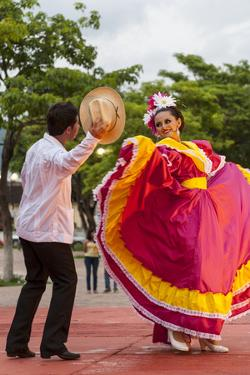 Dancers Entertain a Crowd, Central, Chiapa De Corzo, Chiapas, Mexico by Brent Bergherm