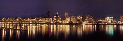 Panoramic View of Portland Waterfront, Oregon, USA