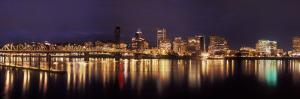 Panoramic View of Portland Waterfront, Oregon, USA by Brent Bergherm