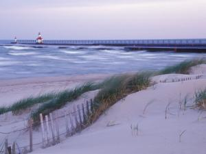Saint Joseph Lighthouse, Lake Michigan, USA by Brent Bergherm