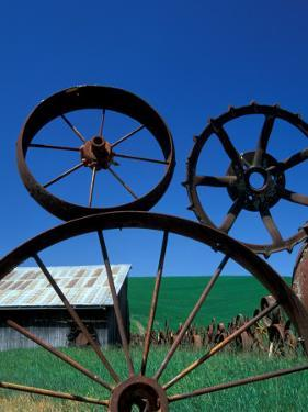 The Wheel Fence and Barn, Uniontown, Whitman County, Washington, USA by Brent Bergherm