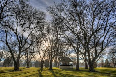 USA, WA, Walla Walla. Pioneer Park Gazebo