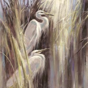 Seaside Egrets by Brent Heighton