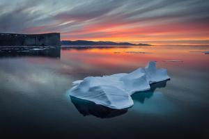 Sunset Off of Scott Island by Brent Stephenson