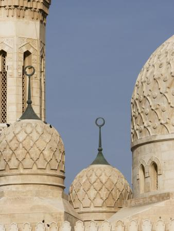 Architectural Detail of Domes of Jumeirah Mosque by Brent Winebrenner