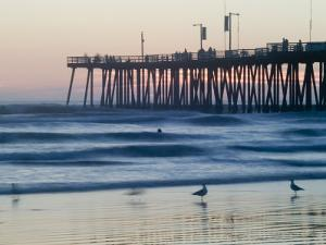 Pier at Sunset, Pismo Beach, California by Brent Winebrenner