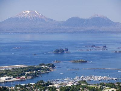 Town with Mt. Edgecumbe in Background, Sitka, Alaska