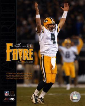 Brett Favre - 4 first half TD passes vs Raiders, 12/22/03