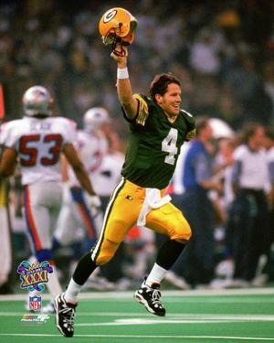 Brett Favre Super Bowl XXXI Action