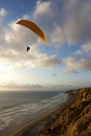 A Male Paraglider at the Torrey Pines Gliderport in San Diego, California