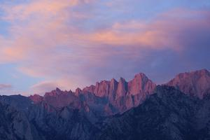 Mount Whitney Glows with Soft Light in an Early Morning in Lone Pine, California by Brett Holman