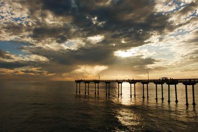 The Ocean Beach Fishing Pier in San Diego, California