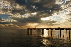 The Ocean Beach Fishing Pier in San Diego, California by Brett Holman