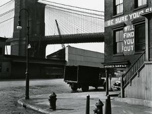 Brooklyn Beach and Street, New York, c. 1945 by Brett Weston