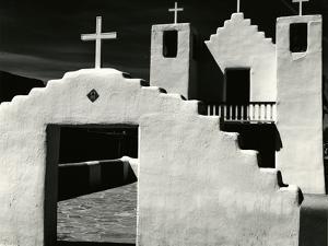 Church, Taos Pueblo, New Mexico, 1971 by Brett Weston