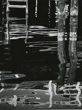 Dock and Water, Reflections, 1971 by Brett Weston