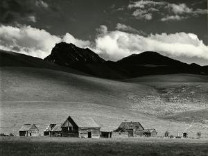 Farm and Mountains, California, 1969 by Brett Weston