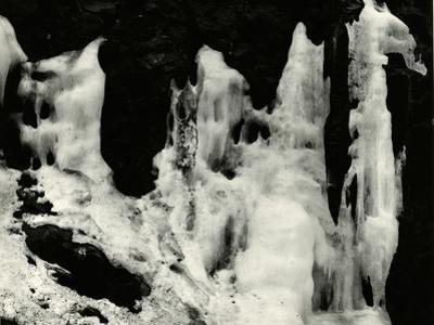 Ice and Rock, Oregon, 1972 by Brett Weston