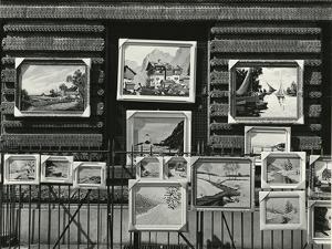 Paintings On Street, New York, 1943 by Brett Weston