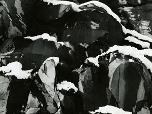 Rock and Snow, Oregon, 1968 by Brett Weston