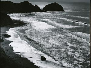 Rock, Sand, Water, Oregon, c. 1970 by Brett Weston