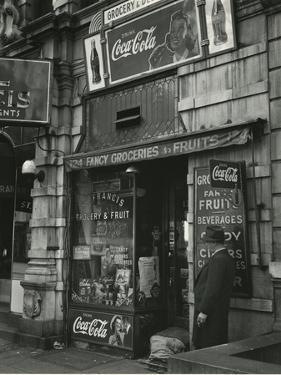 St. Francis Grocery, New York, 1943 by Brett Weston