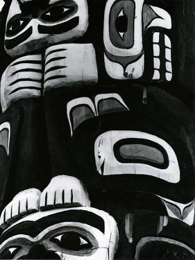Totem Pole Detail, Alaska, c. 1970 by Brett Weston